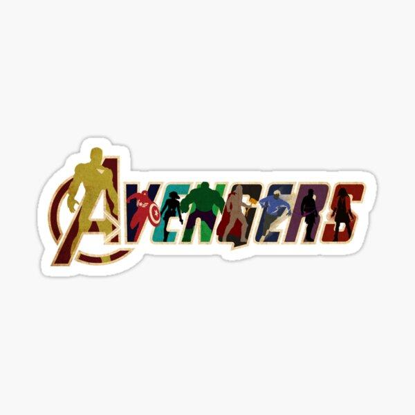 Logotipo del personaje de los Vengadores Pegatina