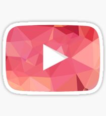 Youtube Play Button - Red Abstract Sticker