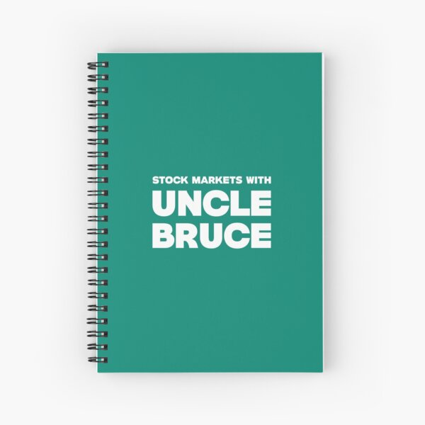 Stock Markets With Bruce new logo Spiral Notebook