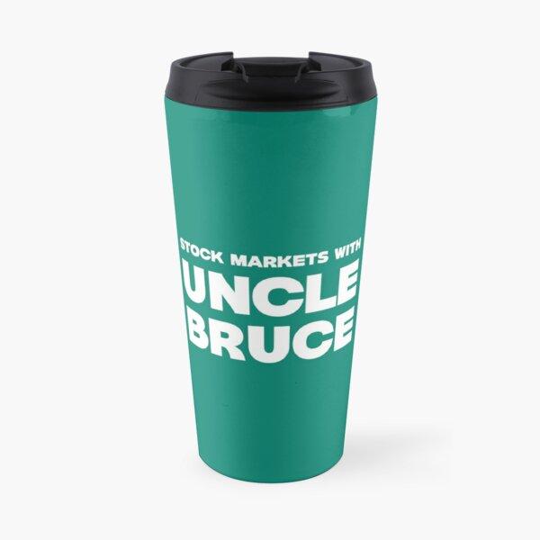 Stock Markets With Bruce new logo Travel Mug