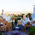 Park Guell in the evening light by Katieshires