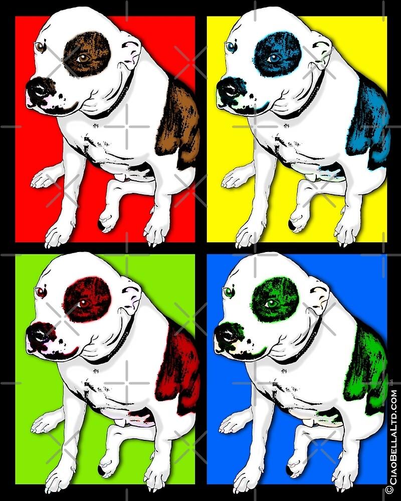 Colorful Pop Art Pit Bull by CiaoBellaLtd