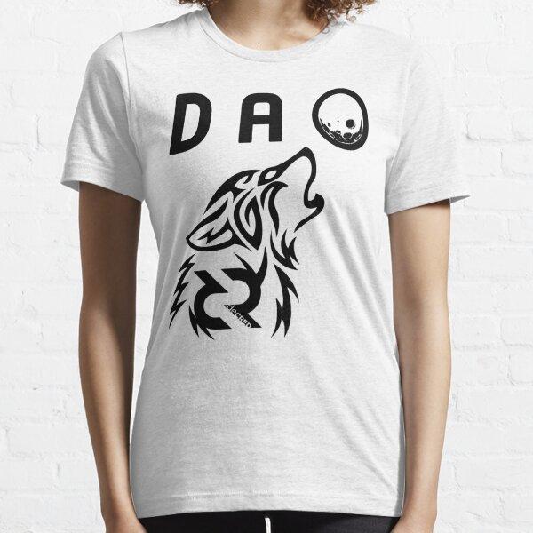 Decred DAO wolf © v2 (Design timestamped by https://timestamp.decred.org/) Essential T-Shirt