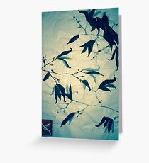 Sumi-e Bird in Winter Greeting Card