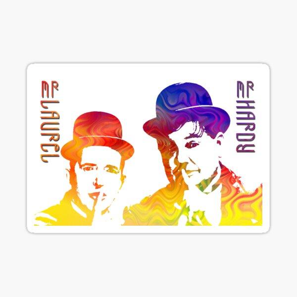 Technicolor Laurel and Hardy Sticker