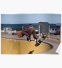 Backside Corner Ollie Air - Empire Park Skate Park Poster