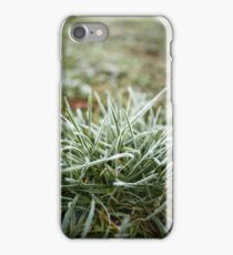 Grass covered with frost iPhone Case/Skin