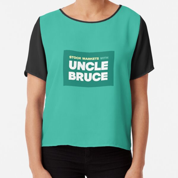 Colourful Uncle Bruce sign Chiffon Top