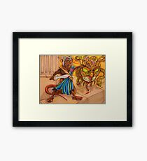 Perseus slays the Gorgon Framed Print