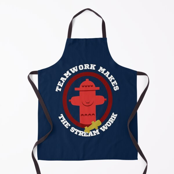 TeamWork makes the Stream Work Firefighters Apron
