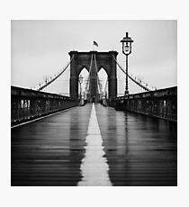 Brooklyn Bridge In Rain Photographic Print