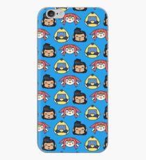 Space Dandy, Meow & QT Pattern iPhone Case
