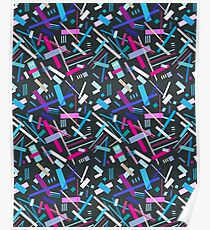 Colorful cool geometric pattern  Poster