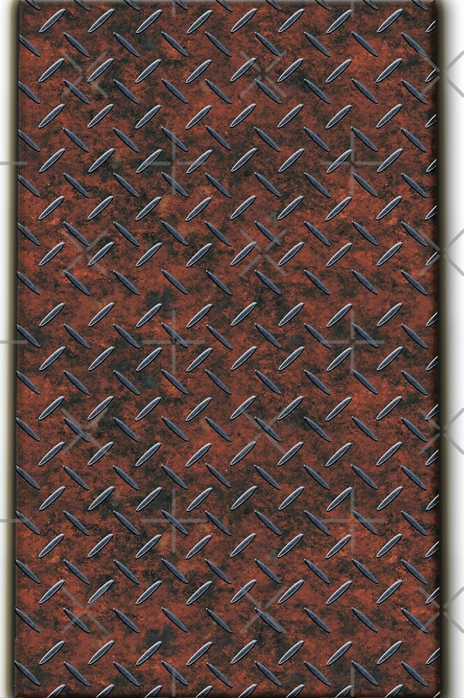 Steampunk Brown Metal Tread Pattern Design by CiaoBellaLtd