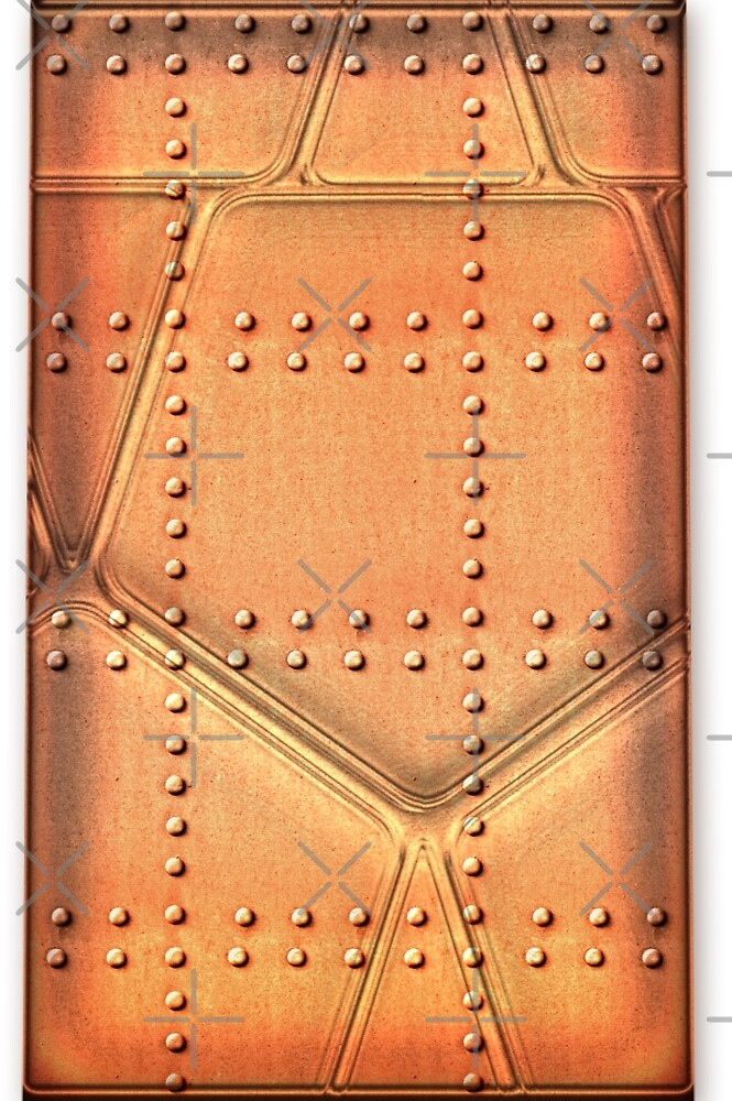 Steampunk Metal Background With Rivets by CiaoBellaLtd