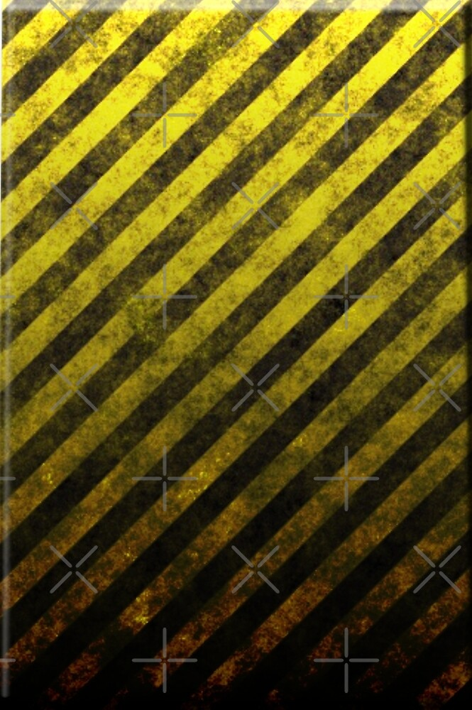 Yellow And Black Grunge Striped Design by CiaoBellaLtd