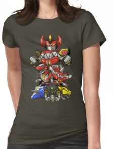 Dinosaur Robots Womens Fitted T-Shirt