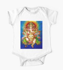 """GANESHA HINDU GOD"" Vintage Deity Print One Piece - Short Sleeve"