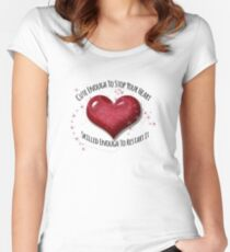 Super Cute Heart Stopper Medical Design Women's Fitted Scoop T-Shirt