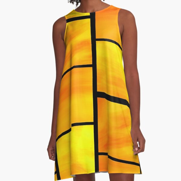 abstract trittico 1 A-Line Dress