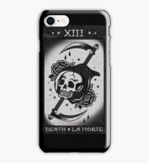 DEATH - LA MORTE - TAROT CARD iPhone Case/Skin