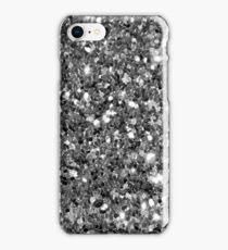 Silver Sparkly Confetti Glitter iPhone Case/Skin