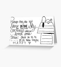 Snoopy Quote Greeting Card