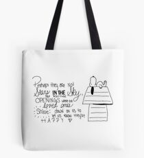 Snoopy Quote Tote Bag