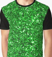 Lime Green Sparkly Glitter Confetti Graphic T-Shirt
