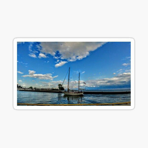 Boat   By Yannis Lobaina Sticker