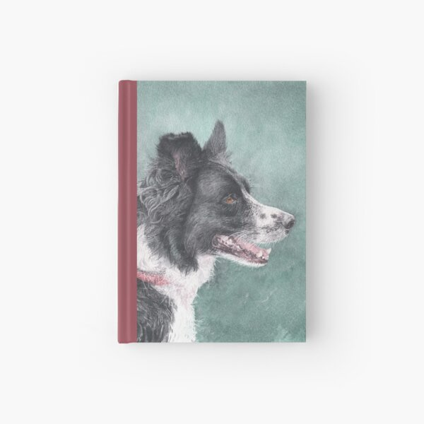 Tess the Border Collie Hardcover Journal