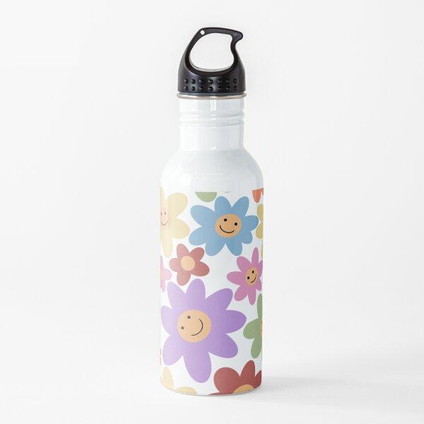 Pastel Flower Smiles Water Bottle