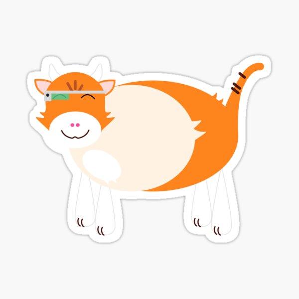 Kitty Cow Sticker