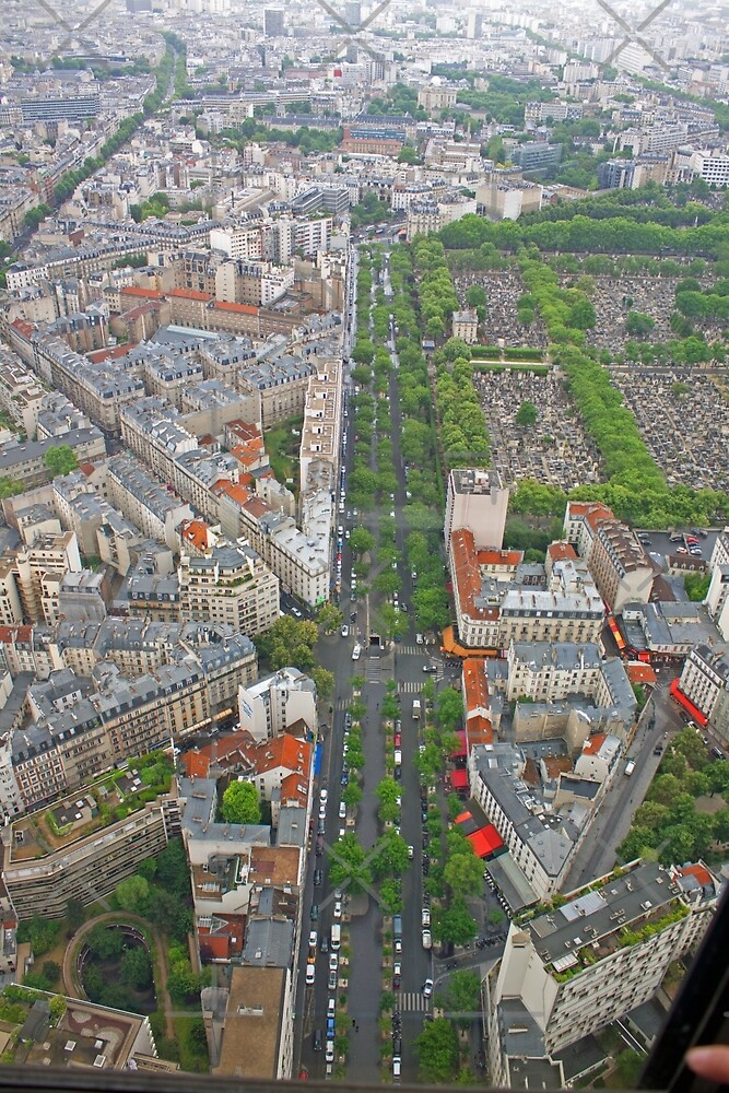 Paris From Above - Tour Montparnasse- Boulevard Edgar Quinet by Buckwhite