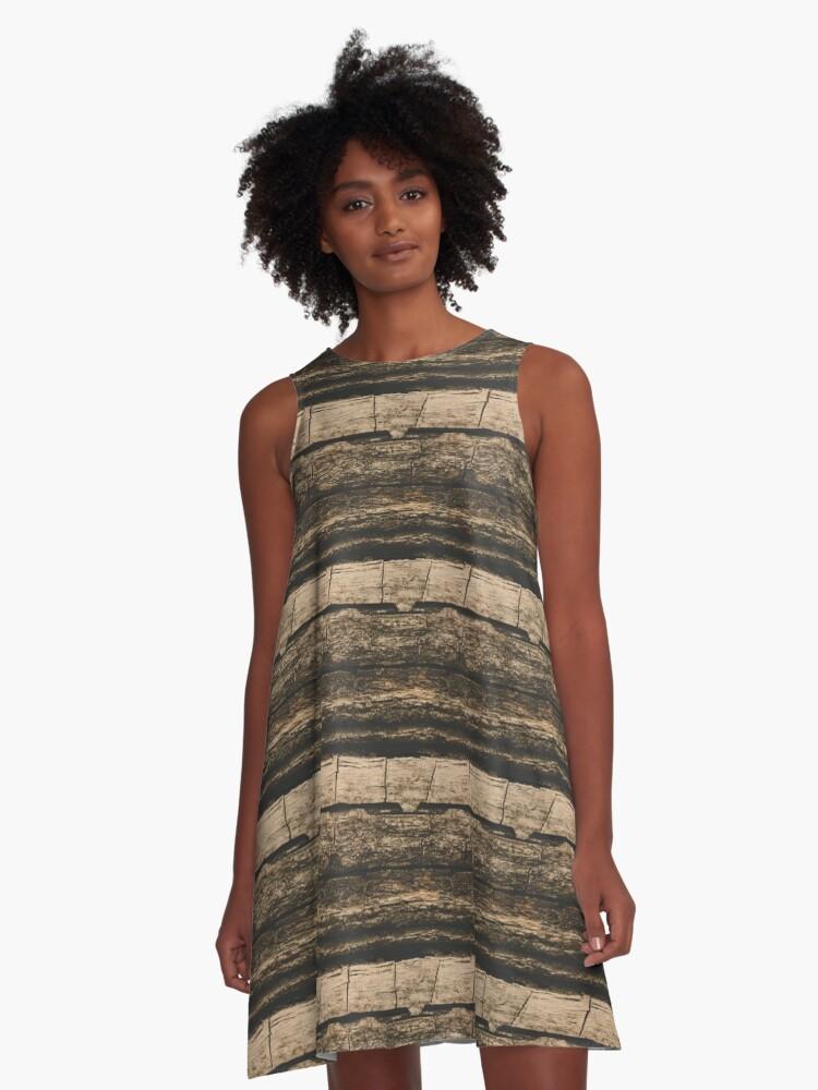 Texture Art - 081 A-Line Dress Front