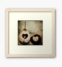 apple and pear hearts Framed Print