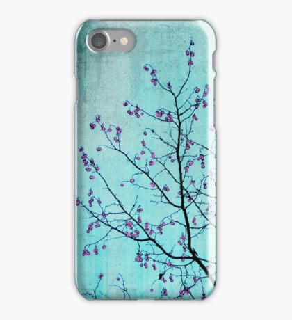 pink berries iPhone Case/Skin