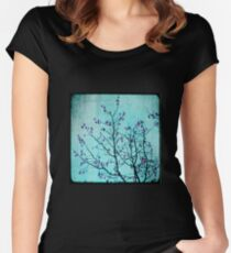 pink berries Women's Fitted Scoop T-Shirt