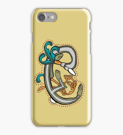 Celtic Rabbit Letter C - New Edition iPhone Case/Skin