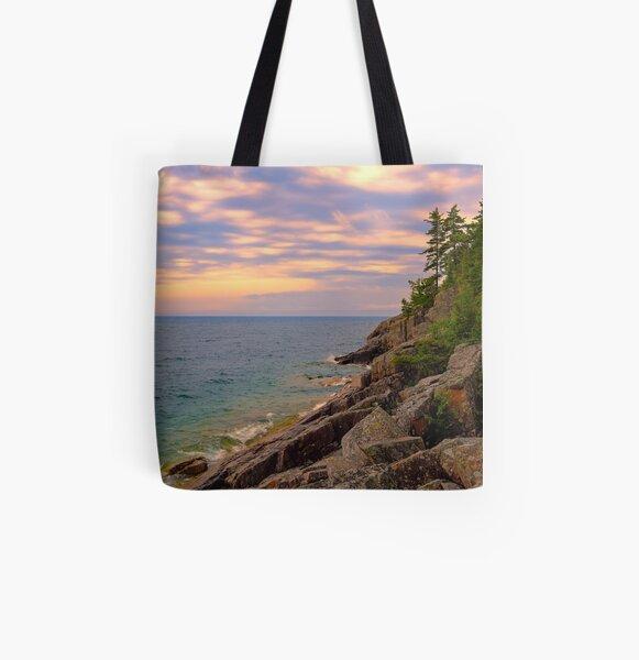 Lake Superior Agawa Bay Sunset Pine Tote Bag