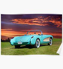 1957 Chevrolet Corvette Roadster II Poster