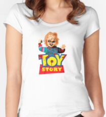 Chucky - A Toy Story (Parody) Women's Fitted Scoop T-Shirt