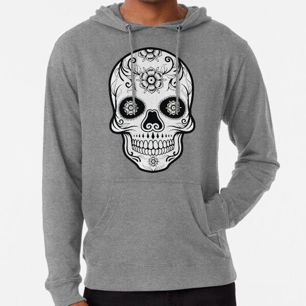 Skull Black Lightweight Hoodie