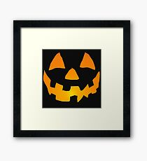 Happy Jack-o-Lantern Framed Print