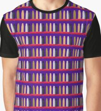 Oil Crayons with Bright Colors Red Pink Brown white and Black Graphic T-Shirt