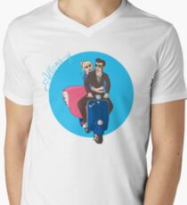 Rose and The Doctor Riding a Vespa T-Shirt