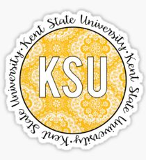 Kent State Gold Sticker