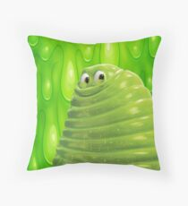 GREEN SLIME BLOBBY Throw Pillow