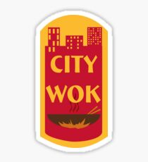 City Wok Logo Sticker