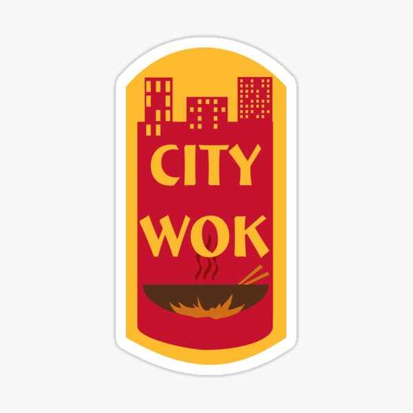 City Wok Logo Sticker